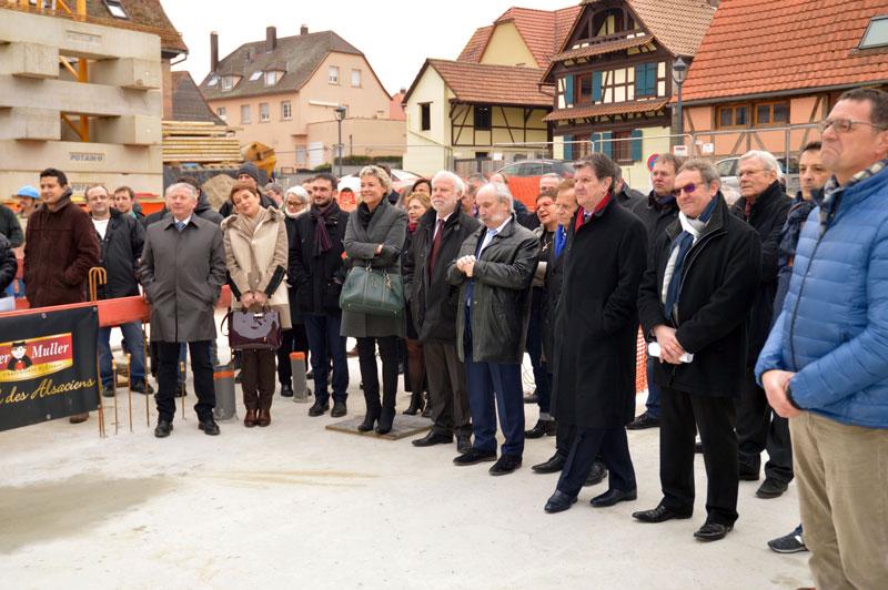 Metzger Muller pose première pierre 1 nouveau bâtiment