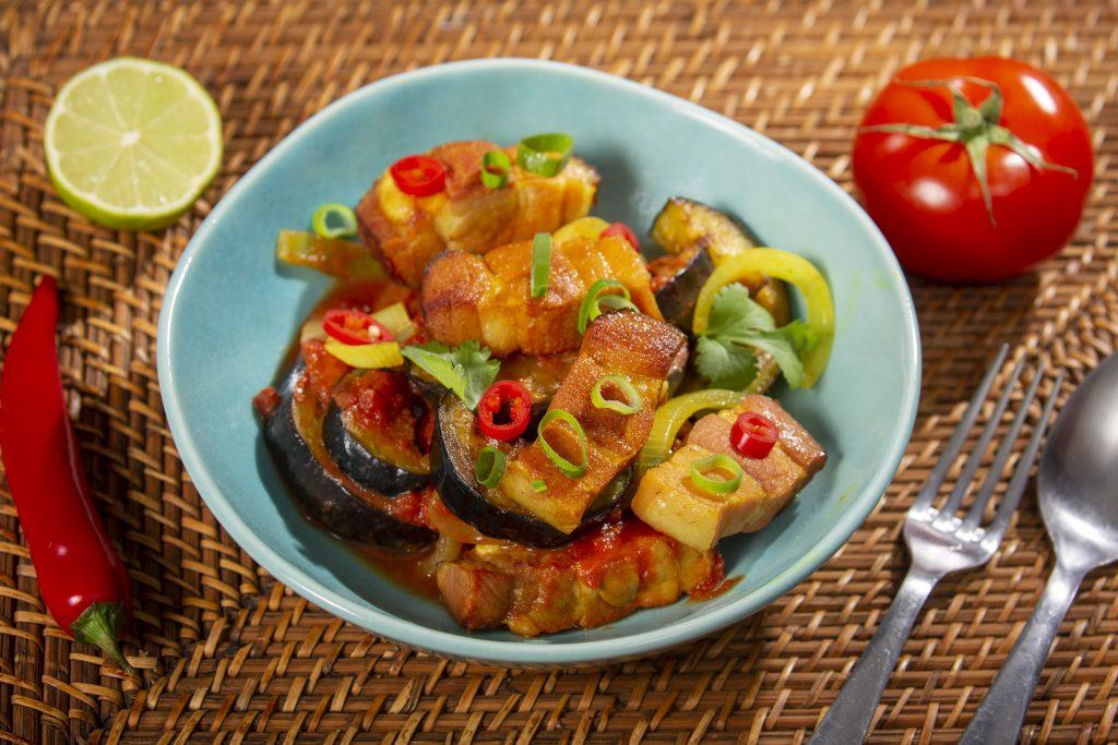 Le Boucané Bringelles (plat traditionnel réunionnais)
