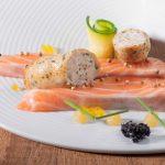 Blanche à griller gourmande et saumon cru mariné