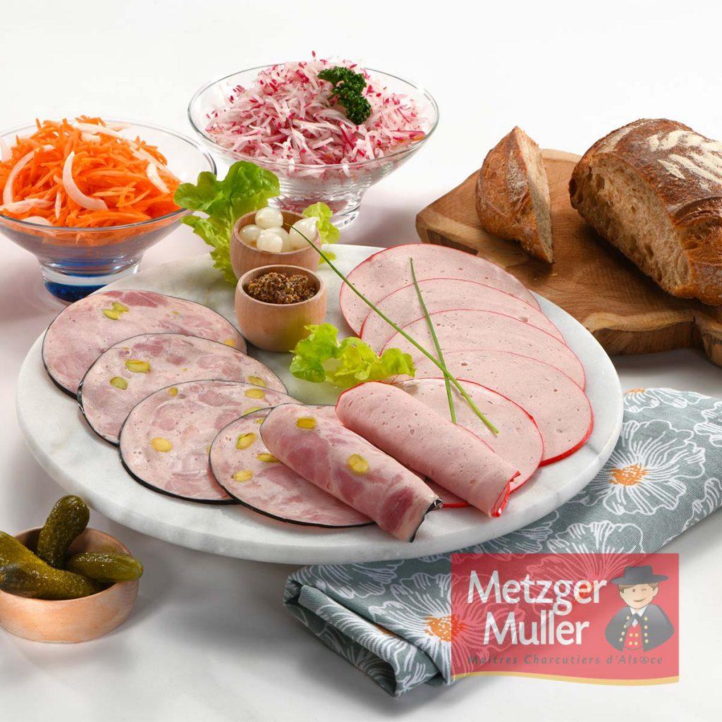 Metzger Muller - Duo saucisse de jambon et Lyon fine