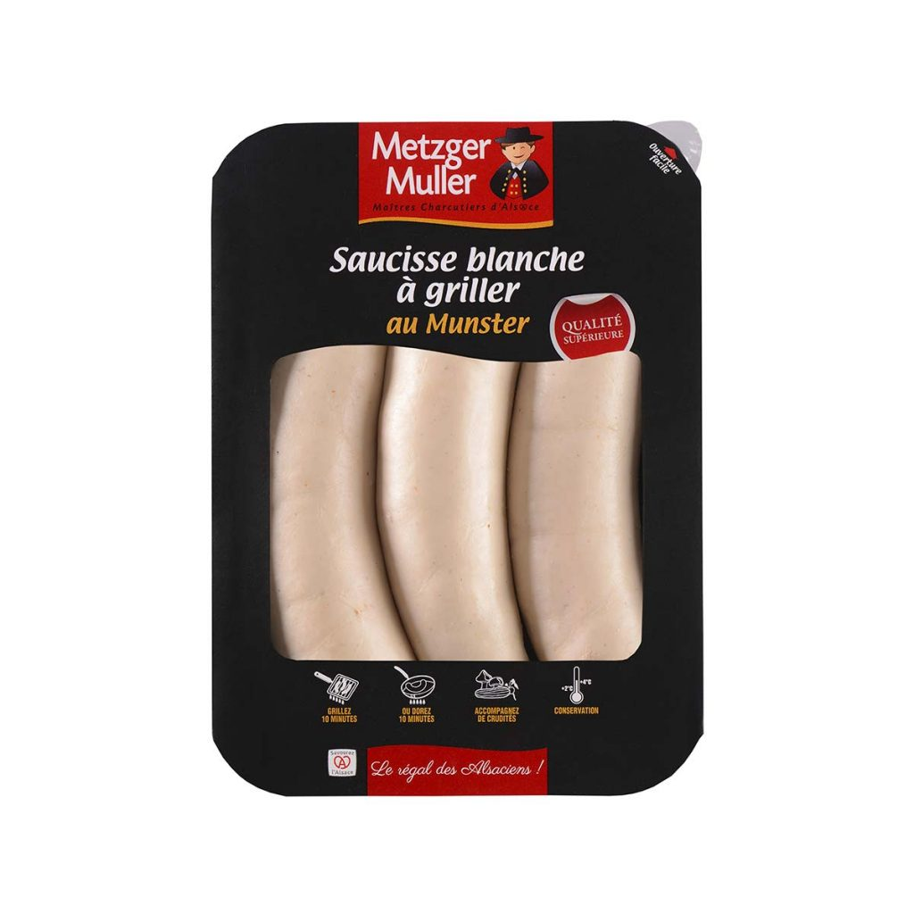 Metzger Muller - Saucisse blanche à griller au munster