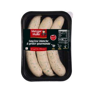 Metzger Muller - Saucisse blanche à griller indienne