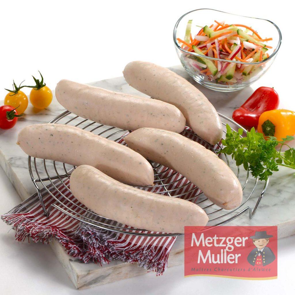 Metzger Muller - Saucisse blanche à griller herbes