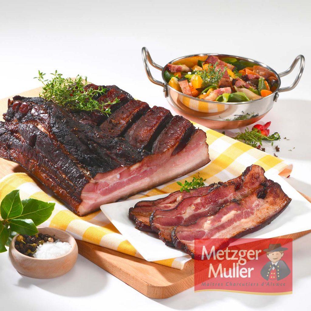 Metzger Muller - Poitrine fumée noire extra