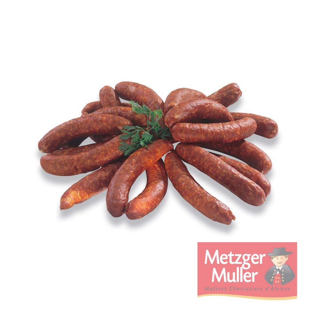 Metzger Muller - Saucisse fumée à cuire pur boeuf