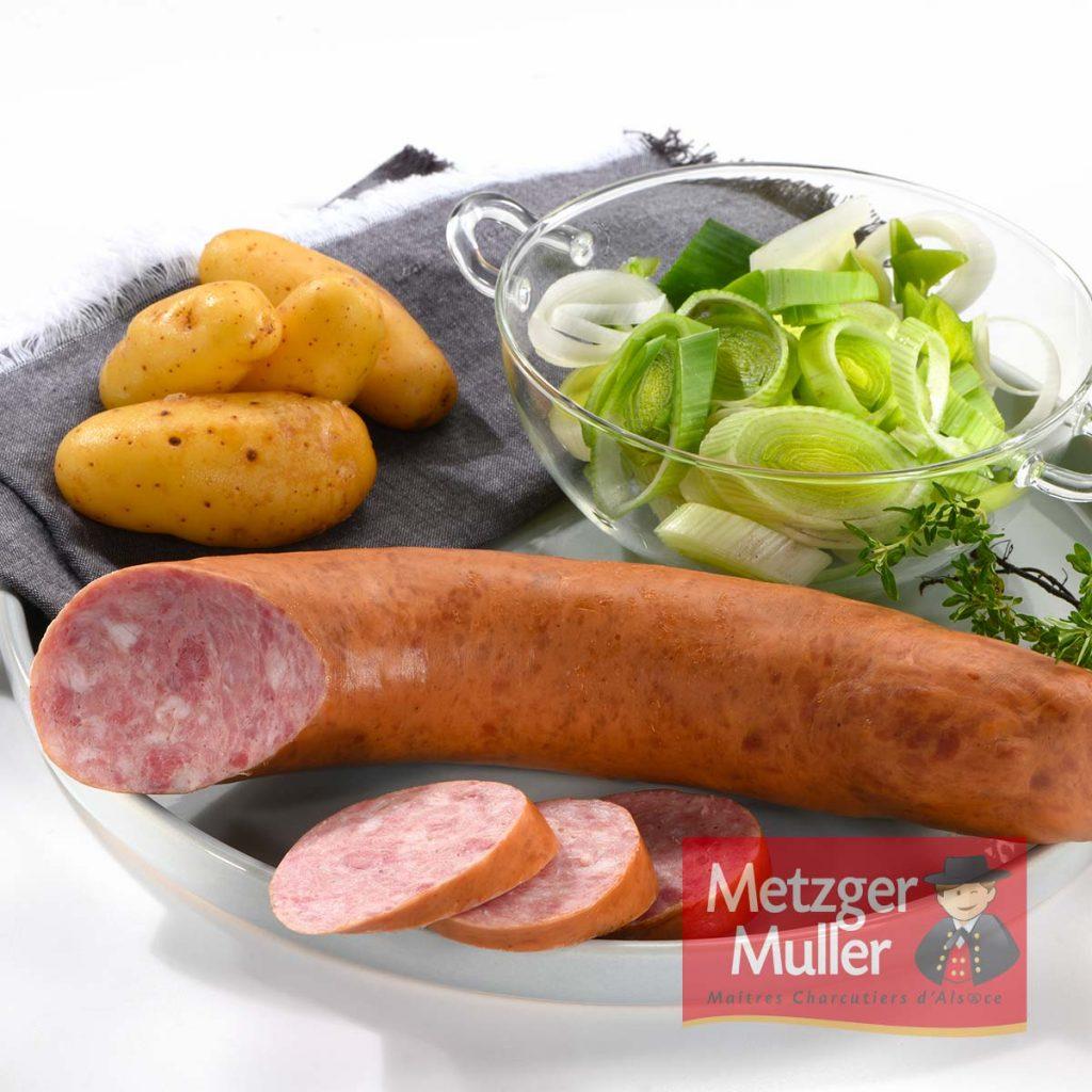 Metzger Muller - Saucisse à l'ail fumée
