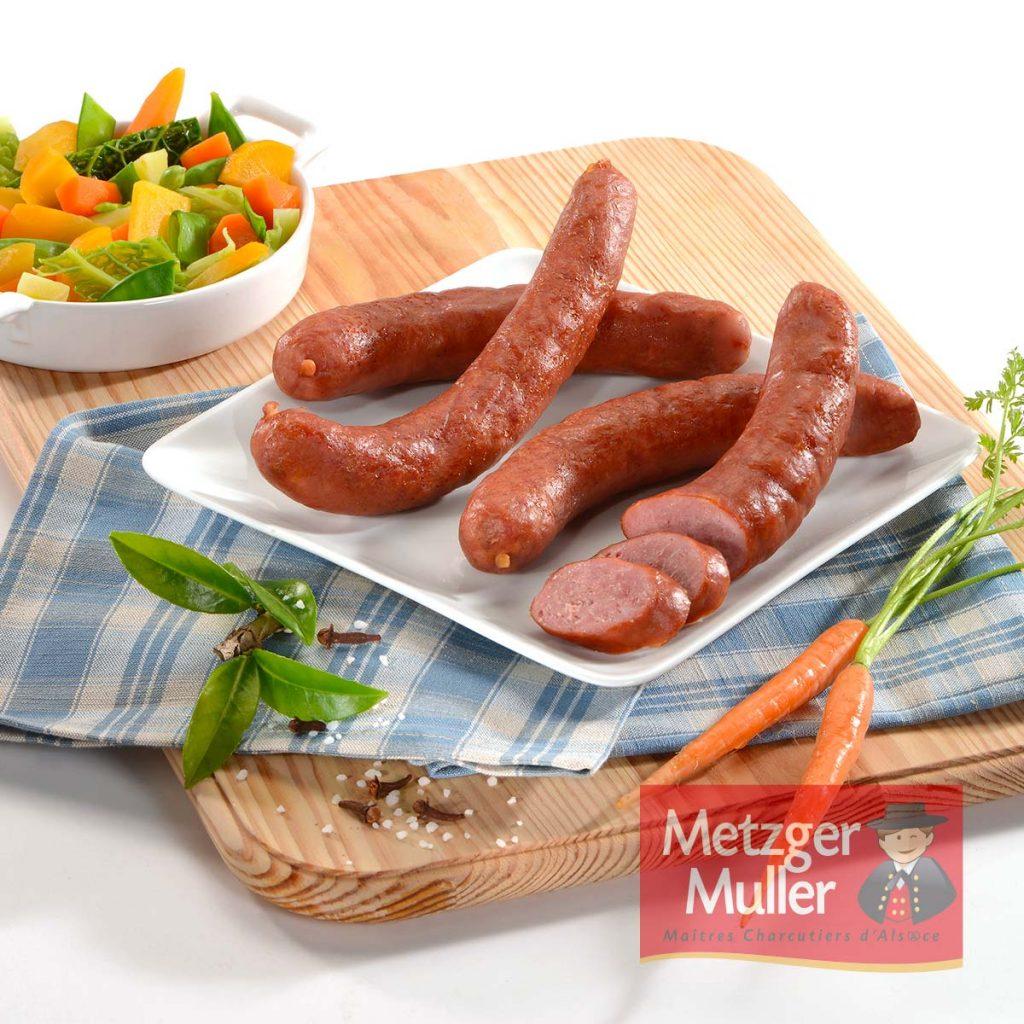 Metzger Muller - Saucisse fumée d'Alsace cuite